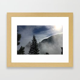 Hike 7 Clarity comes in waves Framed Art Print
