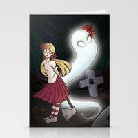 abigail larson Stationery Cards featuring Wendy and Abigail by Rastea