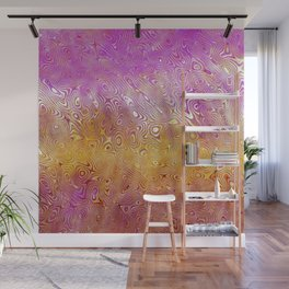Pink Wave Wall Mural