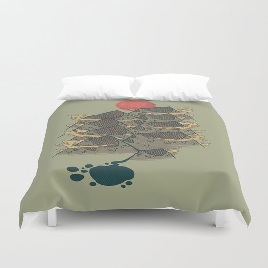 There's Chocolate in Those Mountains Duvet Cover