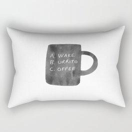 Morning Breakfast Coffee Mug Rectangular Pillow