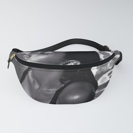 Midnight at the Oasis; beautiful brunette swimming pool black and white art photography - photographs Fanny Pack