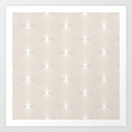 Geometric Orb Pattern XI Art Print