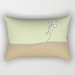 lonely flower Rectangular Pillow