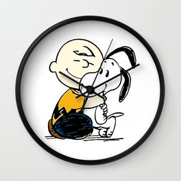 Snoopy and Charlie Soulmate Wall Clock