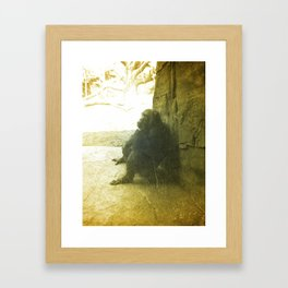 The Thinking Chimp.  Framed Art Print