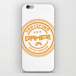 Certified Gamer iPhone Skin