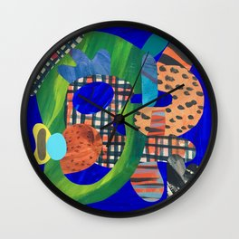 Blue Hat Wall Clock