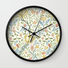 William Morris Flora Wall Clock