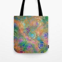 circles Tote Bags featuring Circles by Klara Acel