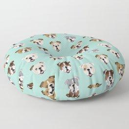 English Bulldog pattern print dog breed pet portrait gifts for dog owner bulldog Floor Pillow