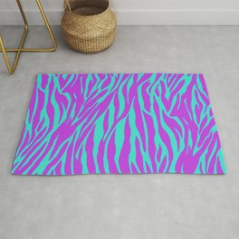 Purple and Green Zebra print Rug