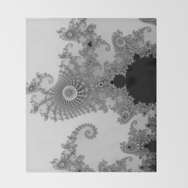 males mandelbrot abstract Throw Blanket