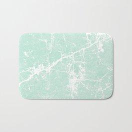 Modern vintage mint white elegant marble Bath Mat