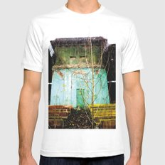 Nature finds the way inside... and outside... White Mens Fitted Tee MEDIUM