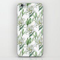 lily iPhone & iPod Skins featuring Lily by Julia Badeeva