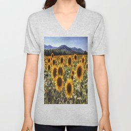 The Sunflower Summer Unisex V-Neck