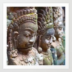 Apsara Carvings Art Print