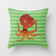Tiger Squid Throw Pillow