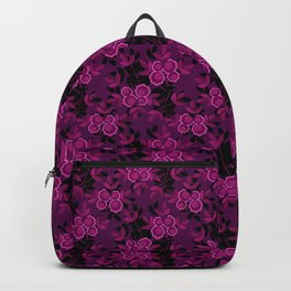 Floral pattern with flowers gzhel Backpack