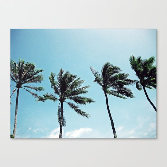 Palm Trees in a Row Canvas Print