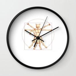 Vitruvian Mewtwo Wall Clock