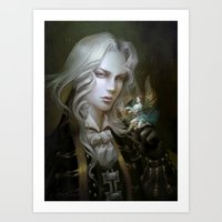 castlevania Art Prints featuring Alucard. Castlevania Symphony of the Night by Nell Fallcard