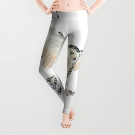 Arctic Snowy Owl Leggings