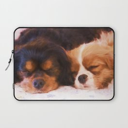 Sleeping Buddies Cavalier King Charles Spaniels Laptop Sleeve