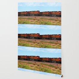 Orange BNSF Engines Wallpaper