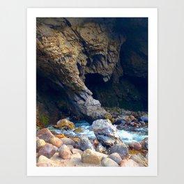 Swallowing Cavern Art Print