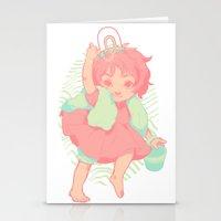 ponyo Stationery Cards featuring Ponyo by Luciana Nascimento