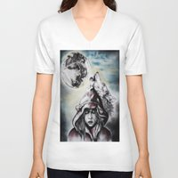 red riding hood V-neck T-shirts featuring Little Red Riding Hood  by Bella Harris