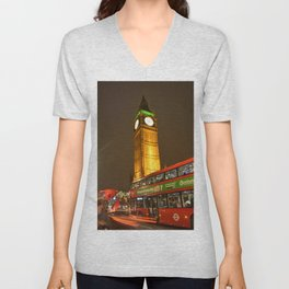 LONDON ENGLAND SOUVENIR Unisex V-Neck