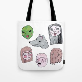 Friendly Nighbohood Monsters Tote Bag