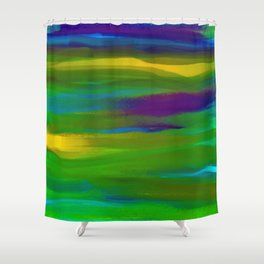 Green Mardi Gras Abstract Shower Curtain