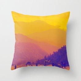Mountains & Camels Throw Pillow
