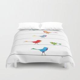 [ birds on wire ] Duvet Cover