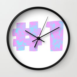 NUMBER 1 (PINK) Wall Clock