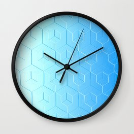 Silver to Blue Gradient Wall Clock