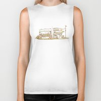 buildings Biker Tanks featuring Two Buildings by Qin Leng