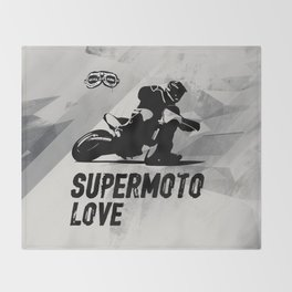 Supermoto Love Throw Blanket