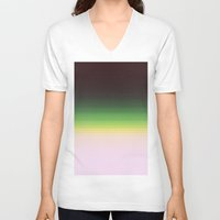 ombre V-neck T-shirts featuring Forest Ombre by PureVintageLove