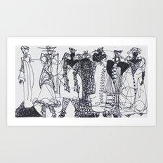 Fashion Doodle #11 Art Print