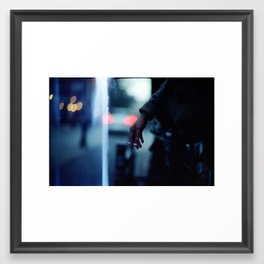 Smoking Leak Framed Art Print