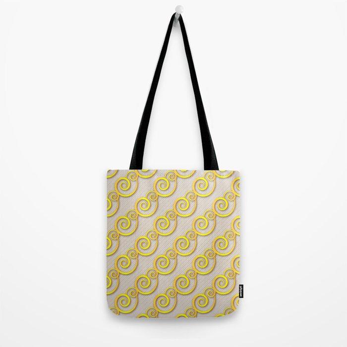 Golden swirls Tote Bag