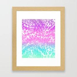 Leopard Print Rainbow Framed Art Print