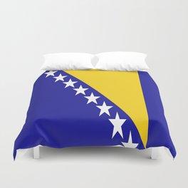 Flag of Bosnia Duvet Cover