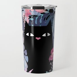 Popoki (Pastel Black Velvet) Travel Mug