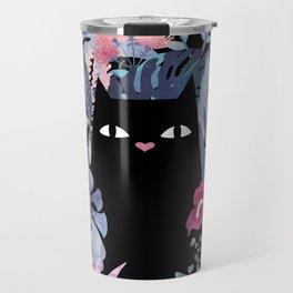 Popoki (Pastel Black Velvet) Travel Mug